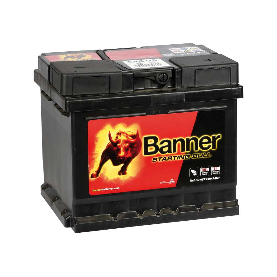 batterien banner starting bull autobatterie 54409 44 ah. Black Bedroom Furniture Sets. Home Design Ideas
