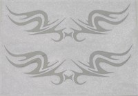 Aufkleber-Chrome-Tatoo-Silver-Wings