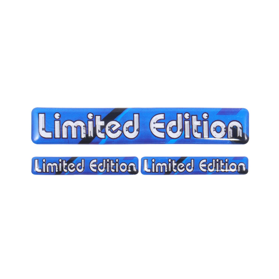 Aufkleber ´´Limited Edition´´, 3D-Sticker in Bl...