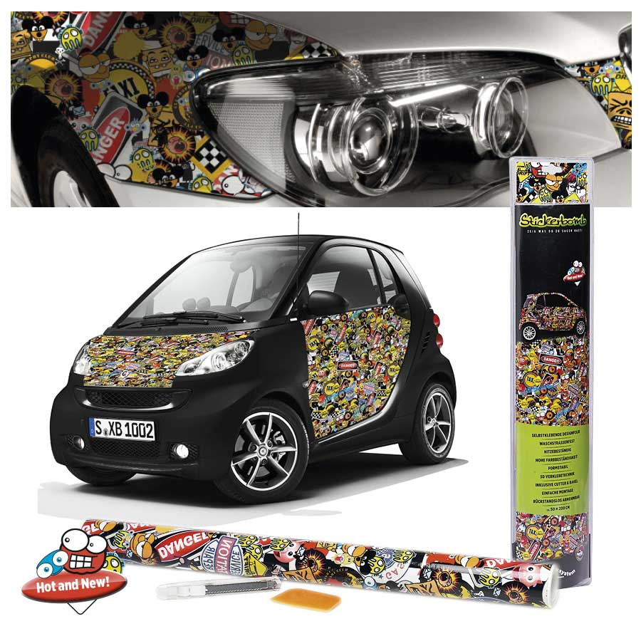 stickerbomb colour signs designfolie aufkleber 50 x 200 cm jetzt bestellen a t u auto teile. Black Bedroom Furniture Sets. Home Design Ideas