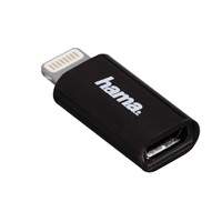 Hama-Micro-USB-2.0-Adapter-in-Schwarz-für-Apple-iPod/iPhone/iPad-mit-Lightning-Connector-MFI-1-Stück