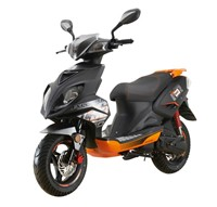 Explorer-Speed-50-Motorroller-schwarz/orange-45-km/h