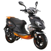Explorer-Speed-50-Motorroller-2016-schwarz/orange-45-km/h