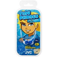 JVC-Kinder-In-Ear-Kopfhörer-Tinyphones-HA-KD1-mit-Sticker-085-m-in-Blau-