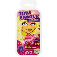 JVC-Kinder-In-Ear-Kopfhörer-Tinyphones-HA-KD1-mit-Sticker-085-m-in-Pink