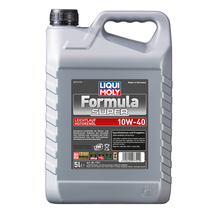 liqui moly formula super 10w 40 motor l 5 liter jetzt bestellen a t u auto teile unger. Black Bedroom Furniture Sets. Home Design Ideas