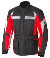 Tourenjacke-Smart-schwarz/rot-Gr.-XL