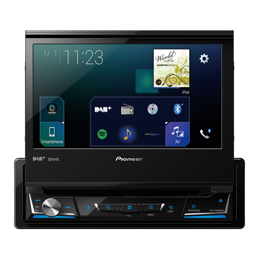 pioneer avh z7000dab autoradio mediacenter mit. Black Bedroom Furniture Sets. Home Design Ideas