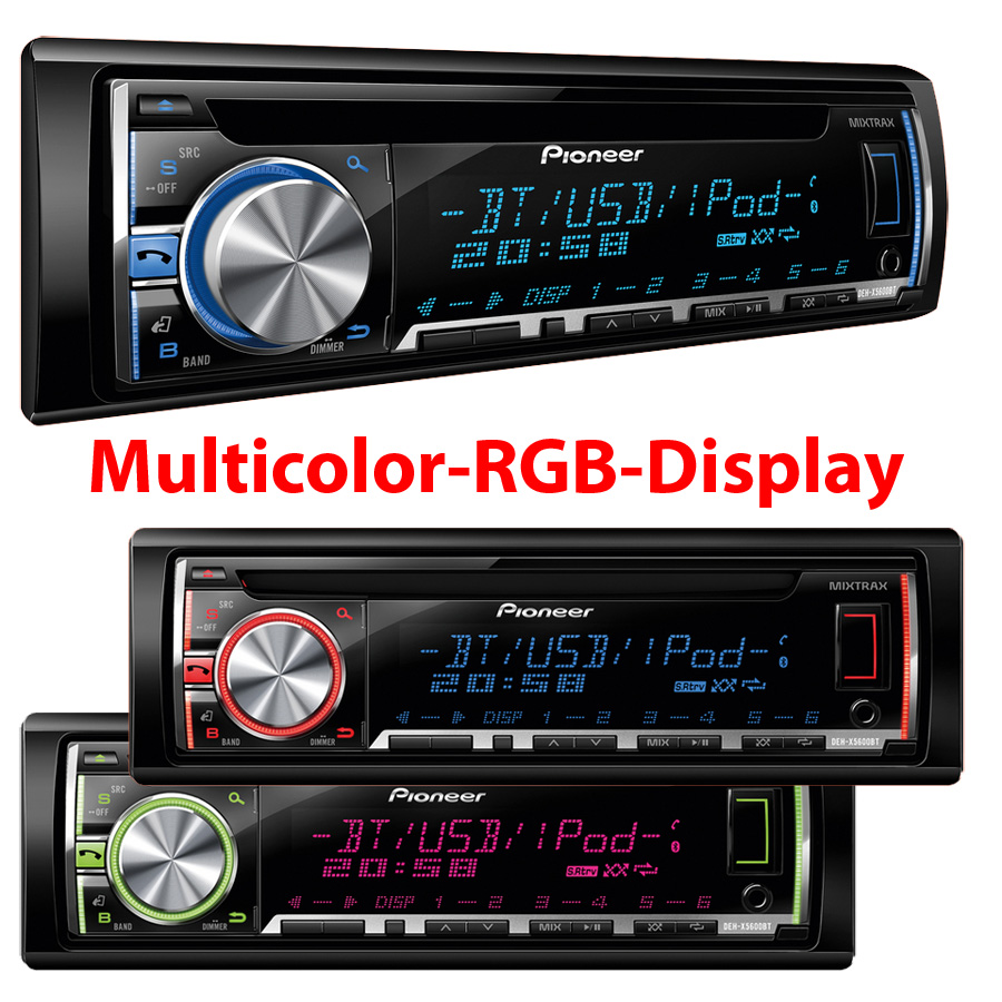 pioneer deh x5600bt autoradio mit bluetooth usb in aux. Black Bedroom Furniture Sets. Home Design Ideas