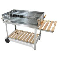 Edelstahl-Barbecue-Holzkohle-Grill-Grillwagen-BBQ-136x60x93-XXL