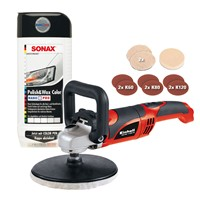 Einhell-Winkelpolierer-CC-PO-1100/1E-+-Sonax-Polish-Wax-Color-Weiß-500-ml