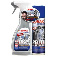 SONAX-2307000-XTREME-FelgenReiniger-PlUS-500-ml-mit-ReifenGlanzSpray-wet-look-300-ml-im-Aktionsset-