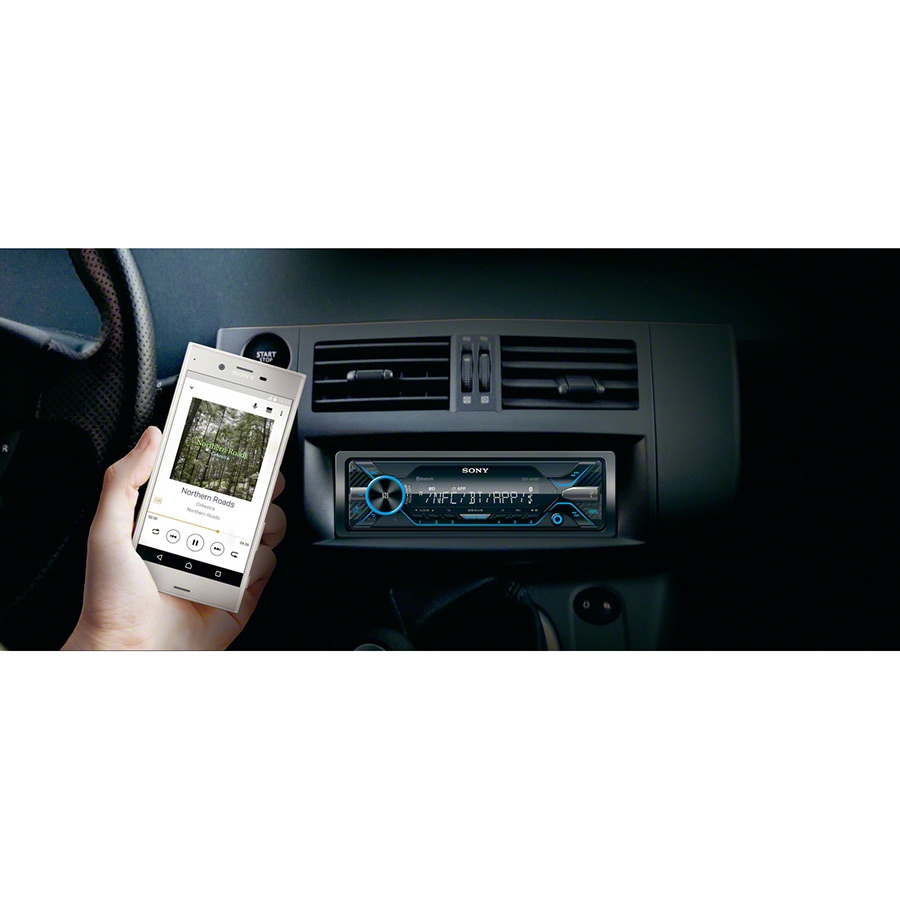 Sony-DSX-A416BT-Autoradio/Media-Receiver-Dual-Bluetooth-Navigation-Freisprechfunktion-Sprachsteuerung-per-Smartphone-1-DIN